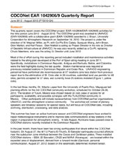 COCONet EAR 1042906/9 Quarterly Report, September 2012 - November 2012 (FY2013-Q1)